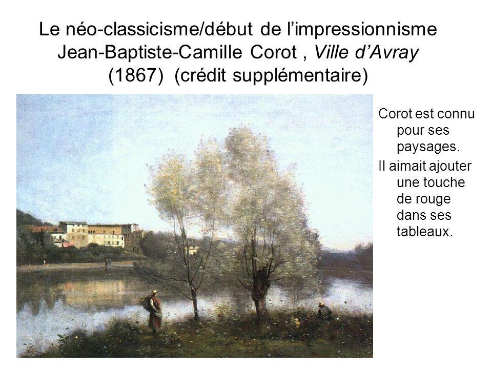 Le néo-classicisme/début de l'impressionnisme Jean-Baptiste-Camille Corot , Ville d'Avray (1867) (crédit supplémentaire)