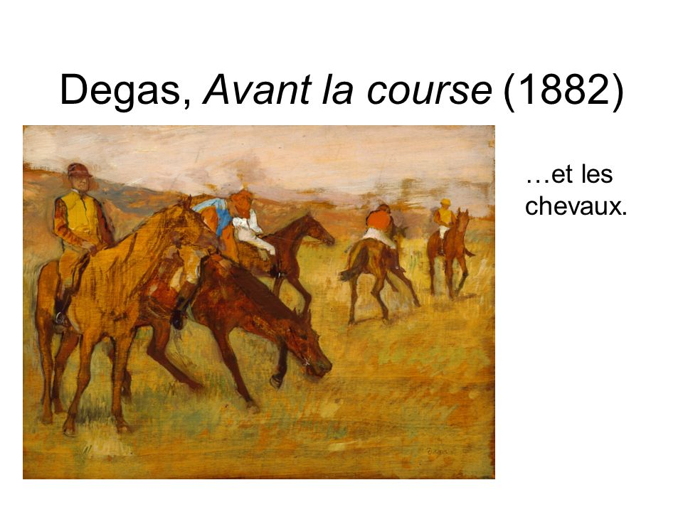 Degas, Avant la course (1882)