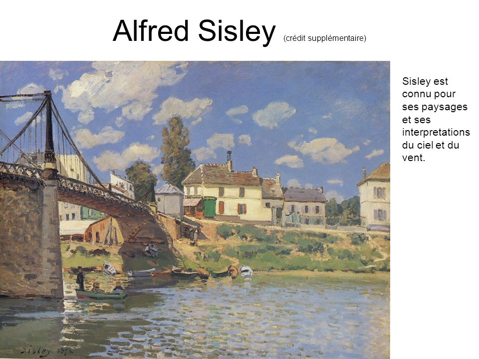 Alfred Sisley (crédit supplémentaire)
