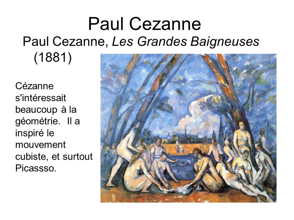 Paul Cezanne Paul Cezanne, Les Grandes Baigneuses (1881)