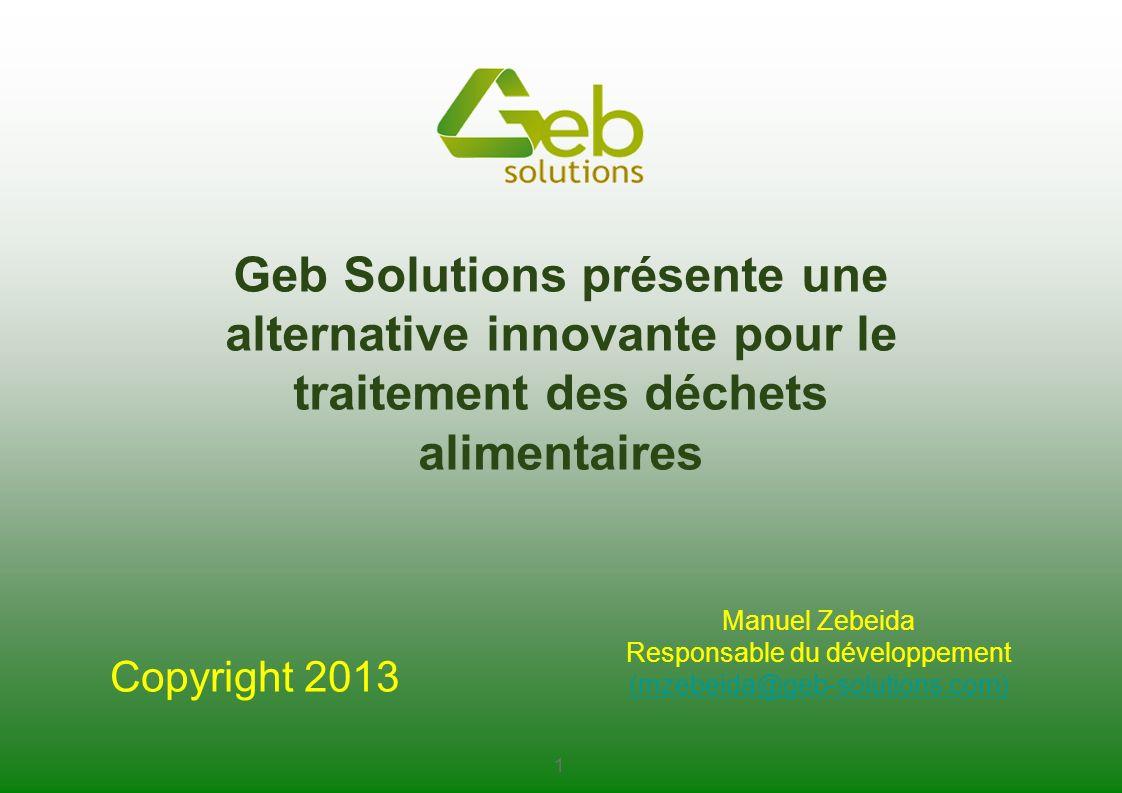 Geb Solutions présente une alternative innovante pour le traitement des déchets alimentaires