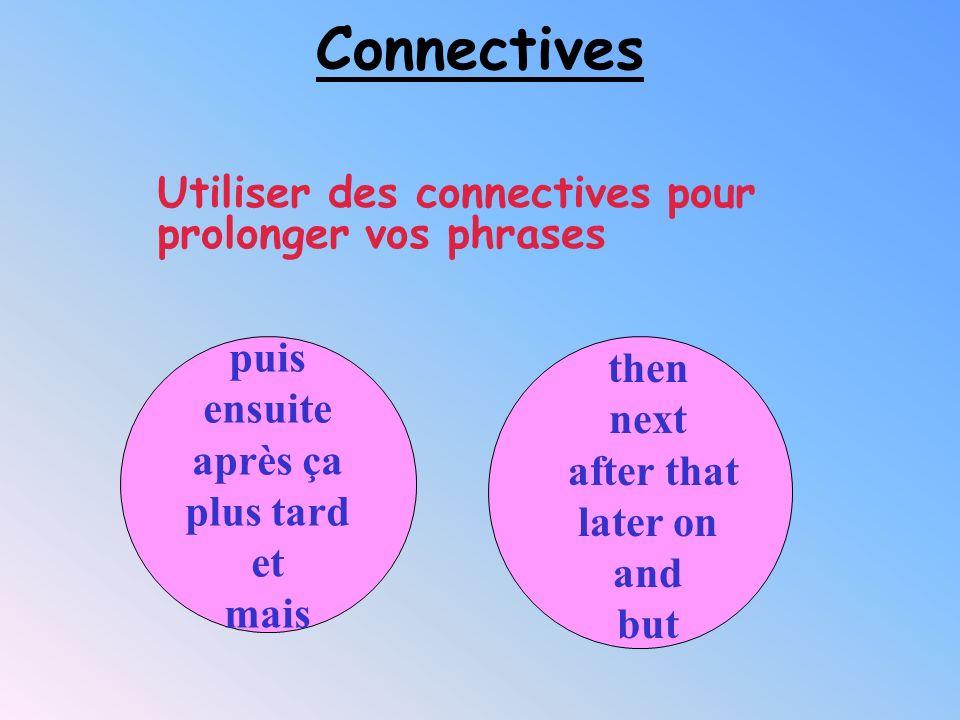 Utiliser des connectives pour prolonger vos phrases
