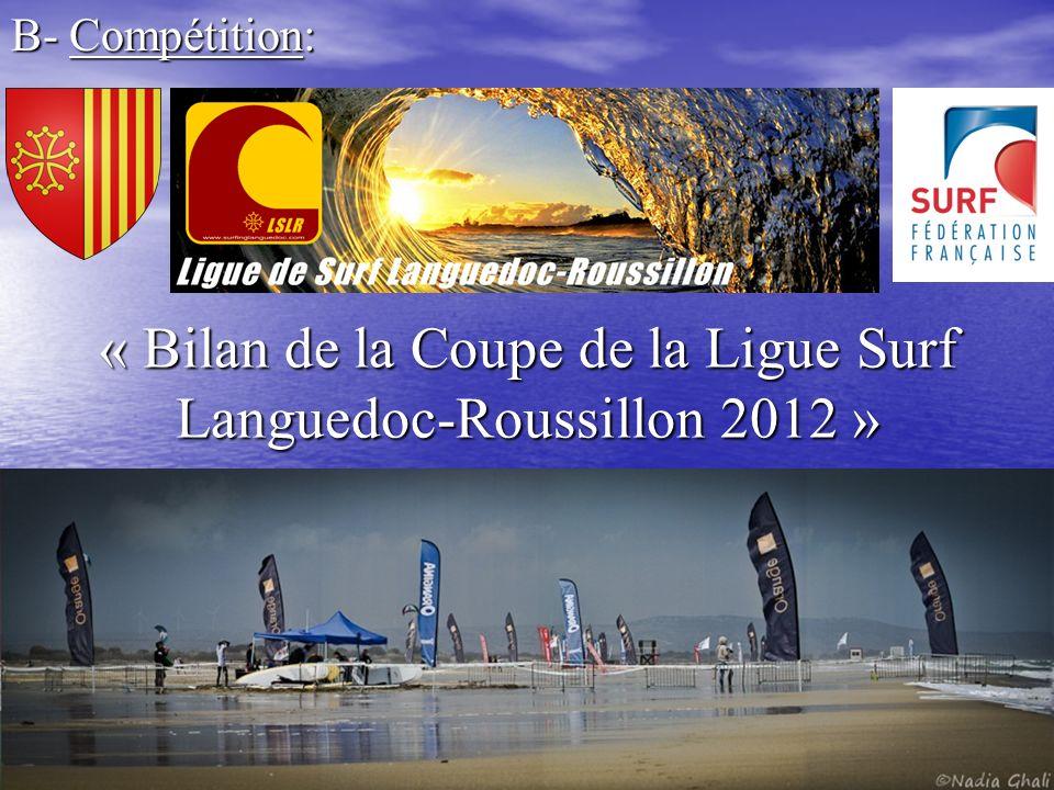 « Bilan de la Coupe de la Ligue Surf Languedoc-Roussillon 2012 »