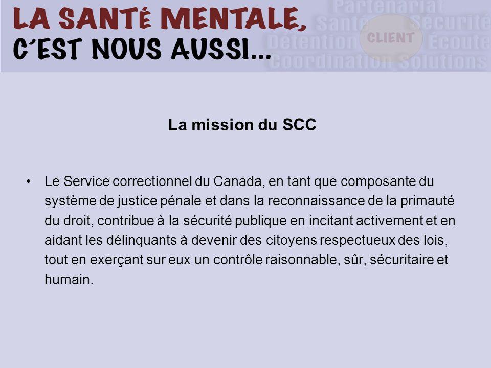 La mission du SCC