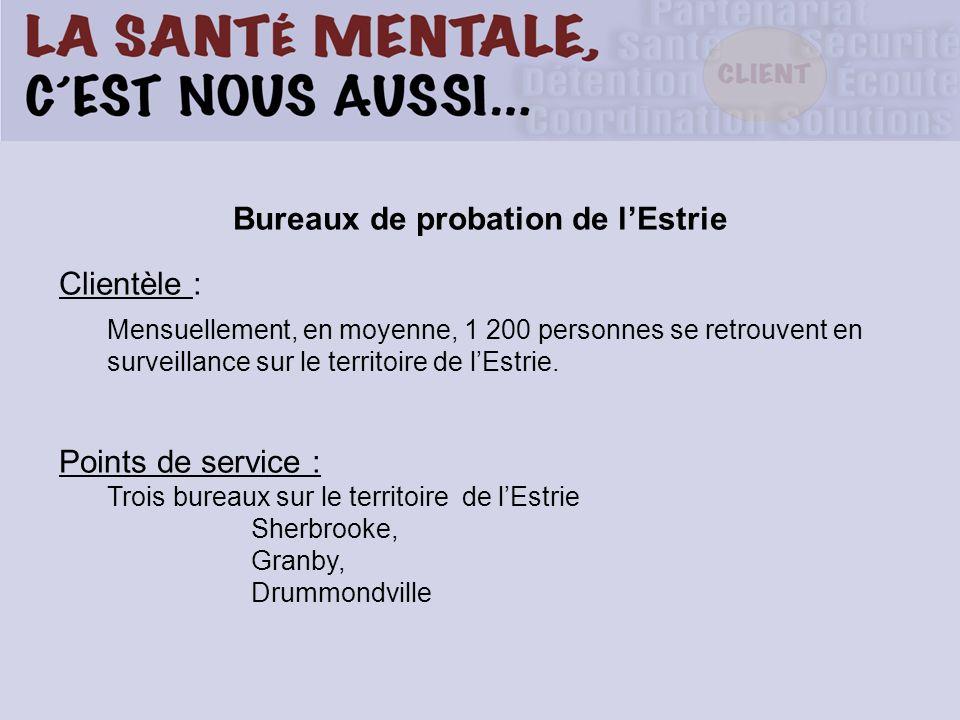 Bureaux de probation de l'Estrie