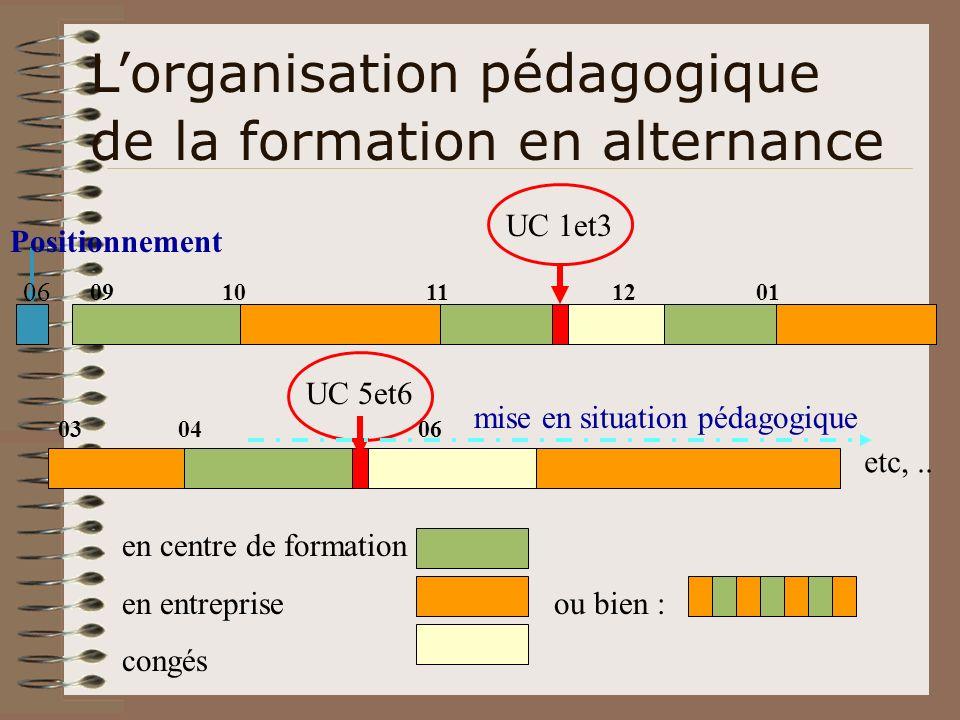 L'organisation pédagogique de la formation en alternance