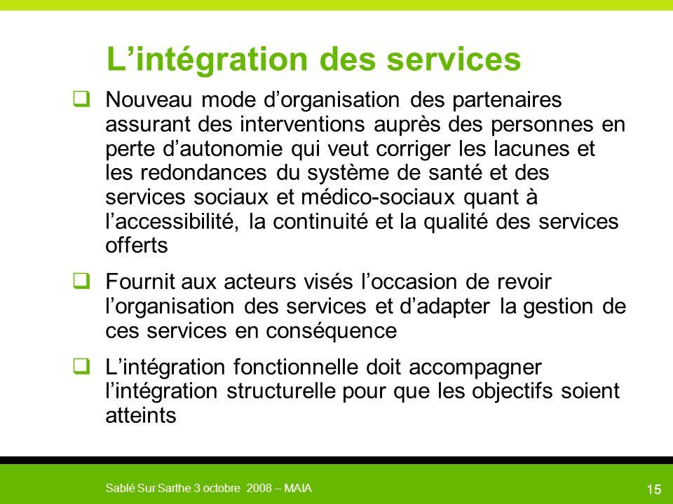 L'intégration des services