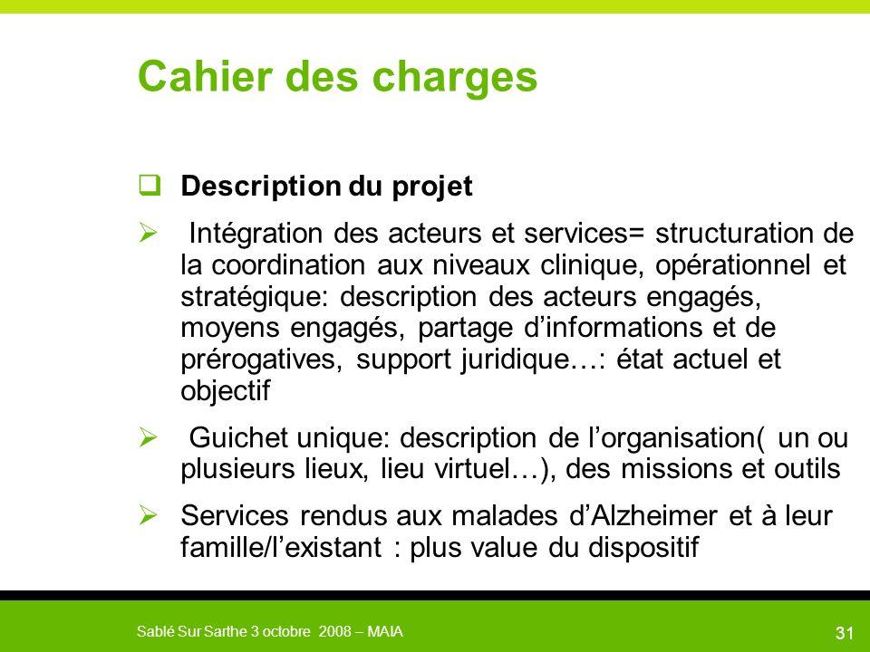Cahier des charges Description du projet