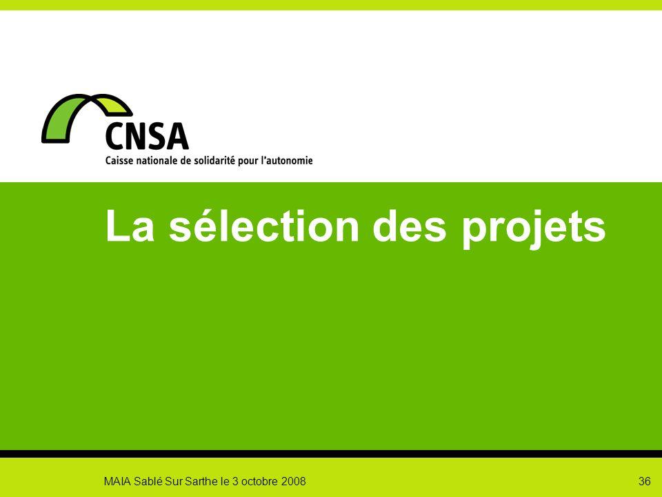 La sélection des projets