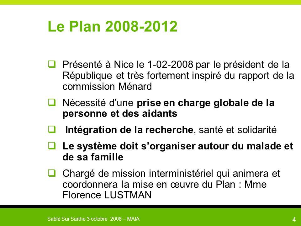 Le Plan 2008-2012 Présenté à Nice le 1-02-2008 par le président de la République et très fortement inspiré du rapport de la commission Ménard.