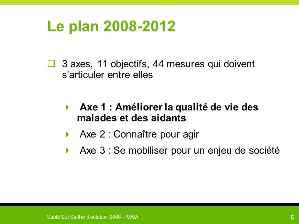 Le plan 2008-2012 3 axes, 11 objectifs, 44 mesures qui doivent s'articuler entre elles.