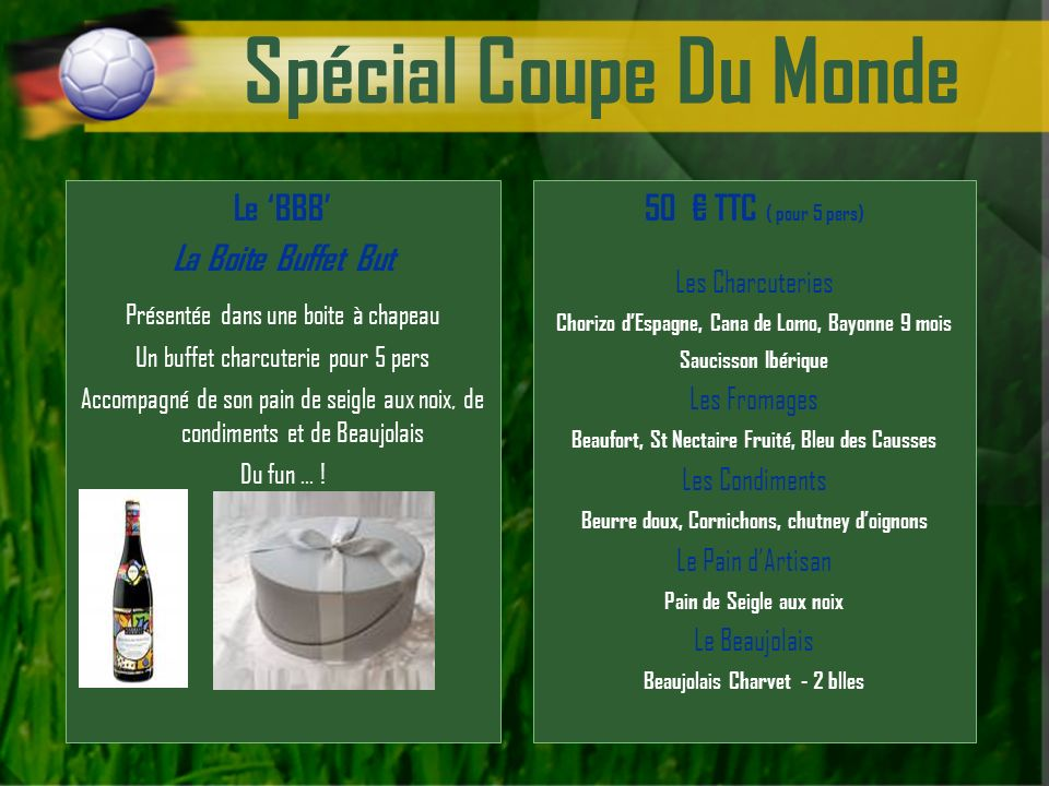 Spécial Coupe Du Monde Le 'BBB' La Boite Buffet But