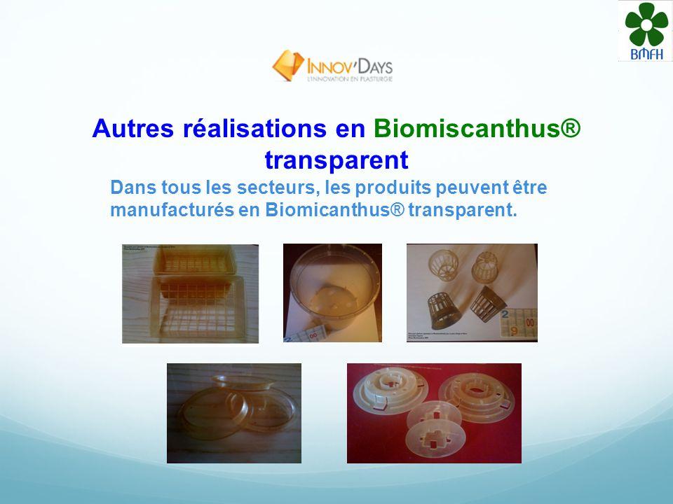 Autres réalisations en Biomiscanthus® transparent