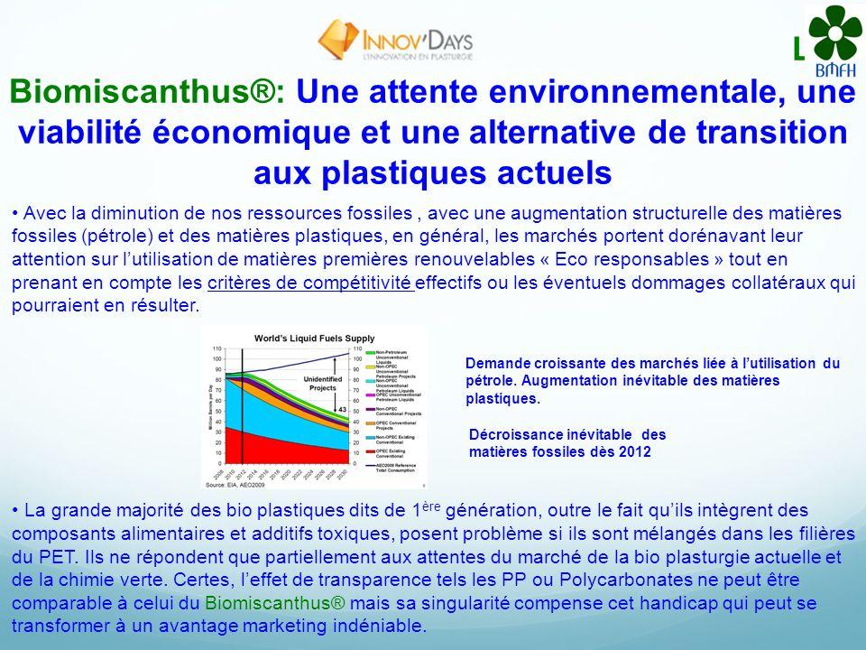 Le Biomiscanthus®: Une attente environnementale, une viabilité économique et une alternative de transition aux plastiques actuels