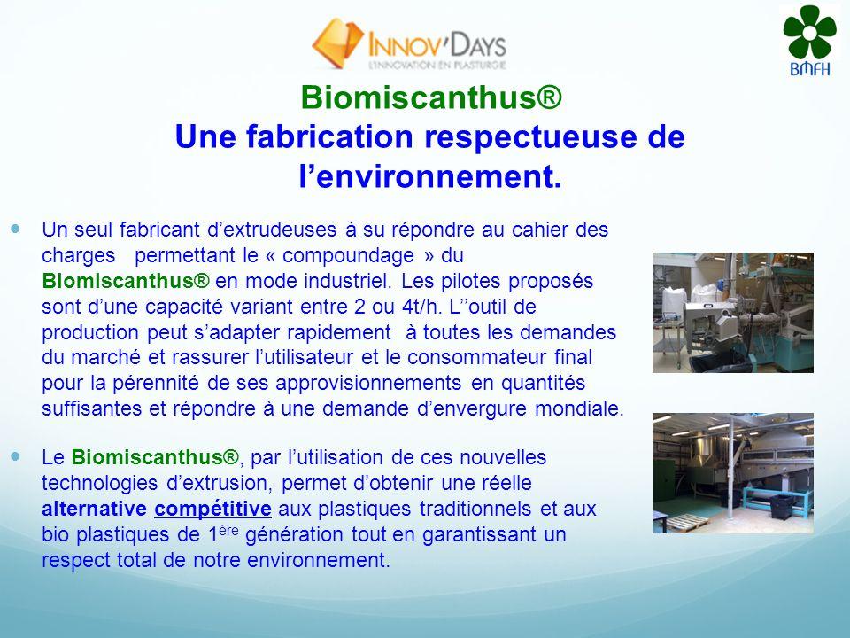 Biomiscanthus® Une fabrication respectueuse de l'environnement.