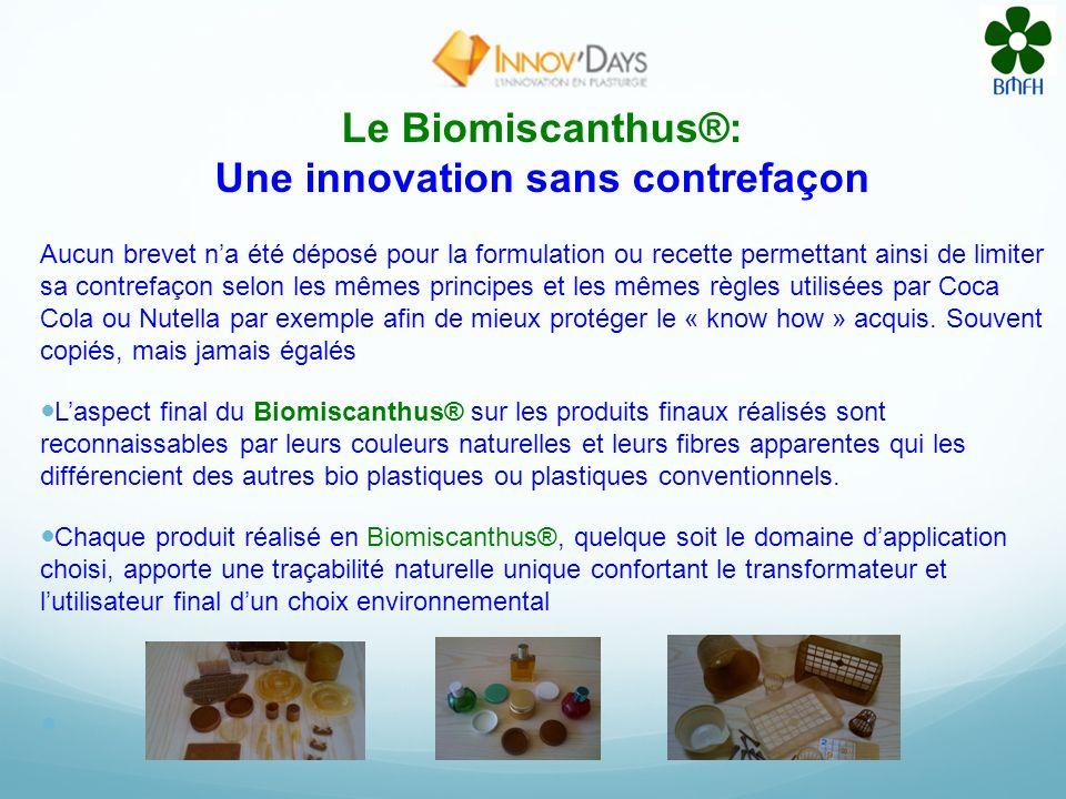Le Biomiscanthus®: Une innovation sans contrefaçon
