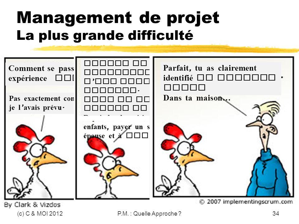 Management de projet La plus grande difficulté