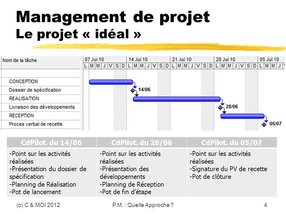 Management de projet Le projet « idéal »