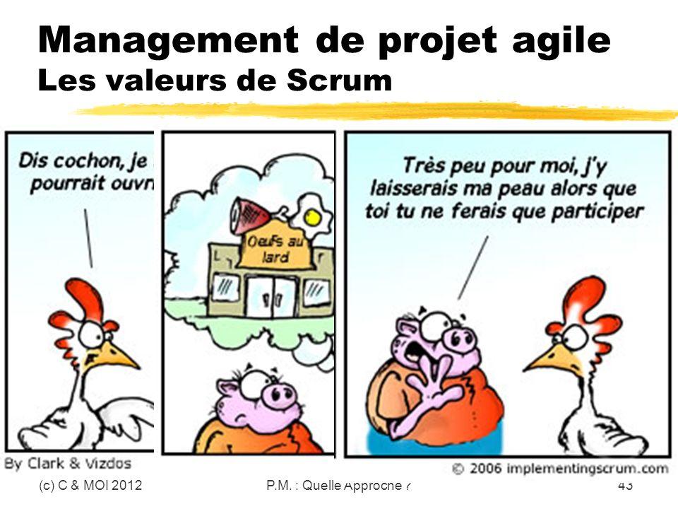 Management de projet agile Les valeurs de Scrum