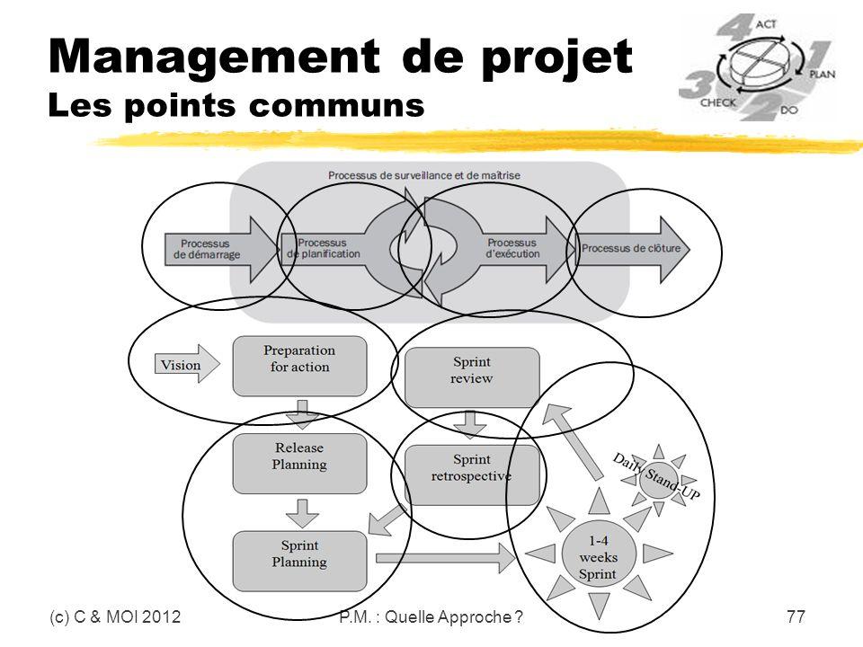 Management de projet Les points communs