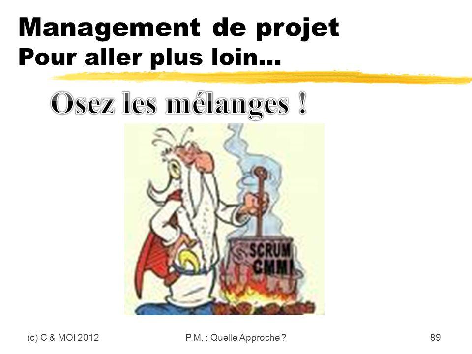 Osez les mélanges ! Management de projet Pour aller plus loin…