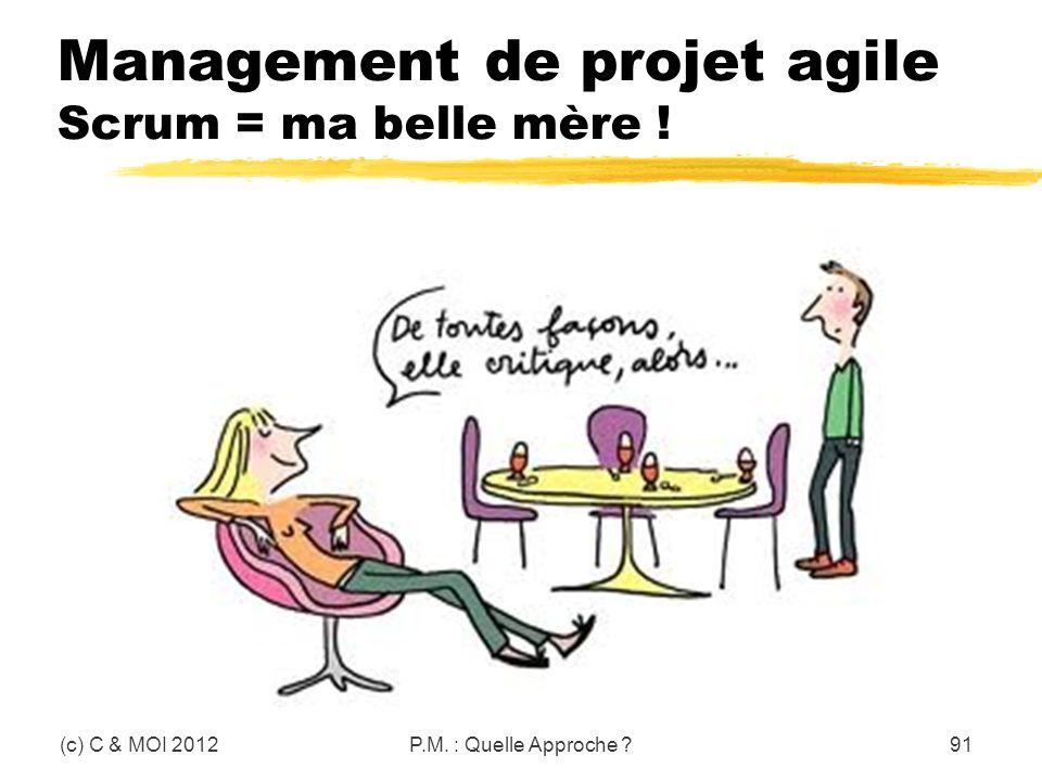 Management de projet agile Scrum = ma belle mère !