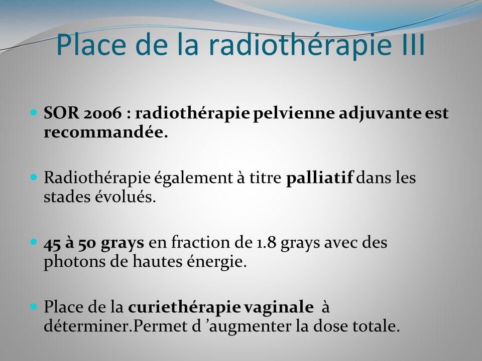 Place de la radiothérapie III