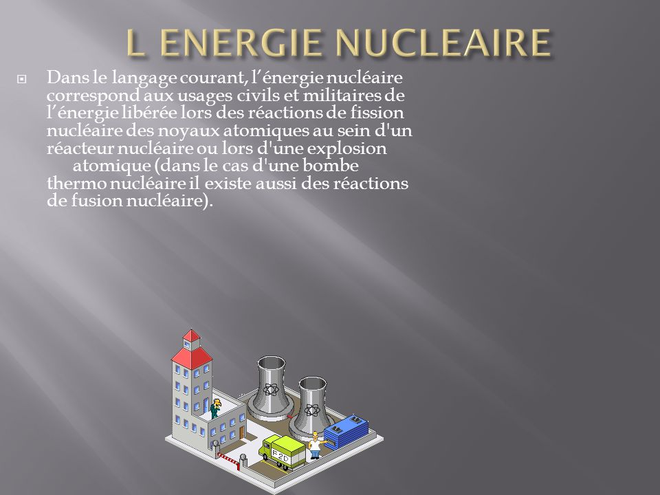 L ENERGIE NUCLEAIRE