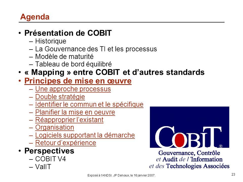 Exposé à l ANDSI. JP Delvaux, le 16 janvier 2007.