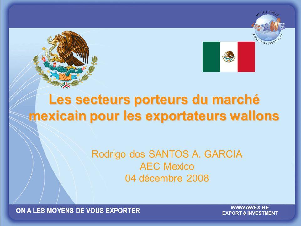 Les secteurs porteurs du marché mexicain pour les exportateurs wallons