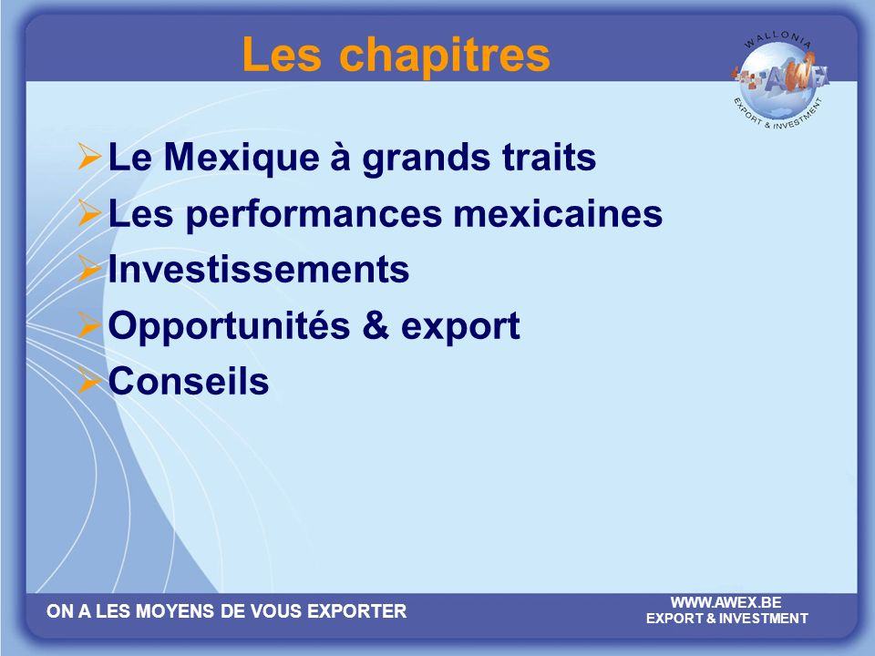 Les chapitres Le Mexique à grands traits Les performances mexicaines