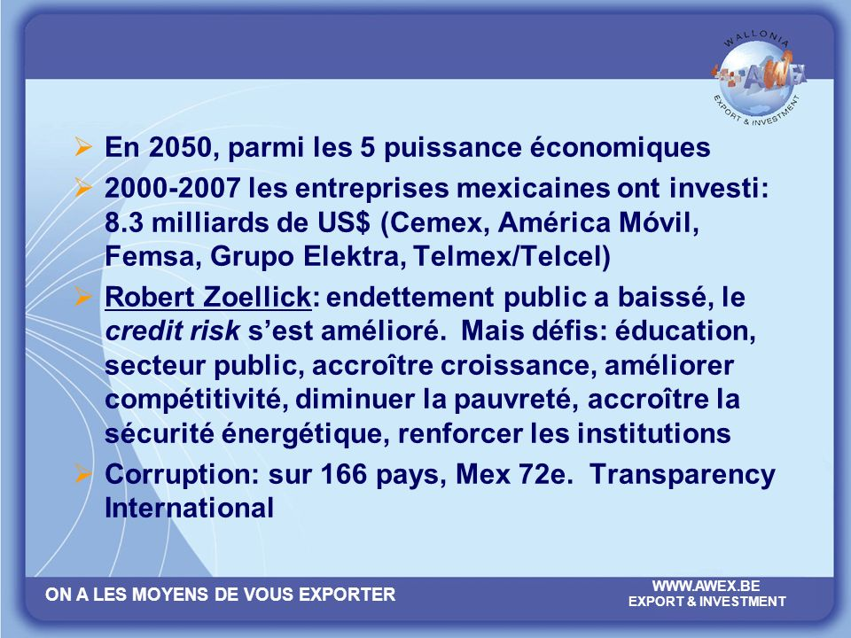 En 2050, parmi les 5 puissance économiques