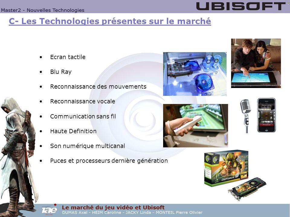 C- Les Technologies présentes sur le marché