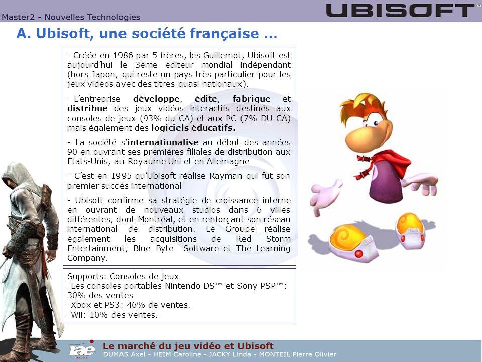 A. Ubisoft, une société française …