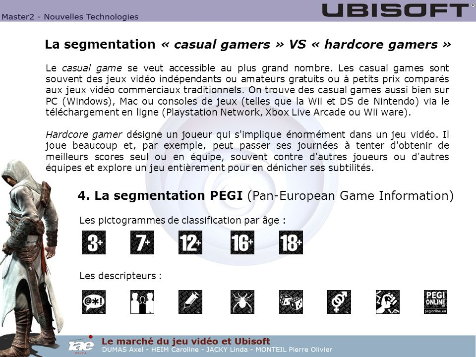 La segmentation « casual gamers » VS « hardcore gamers »