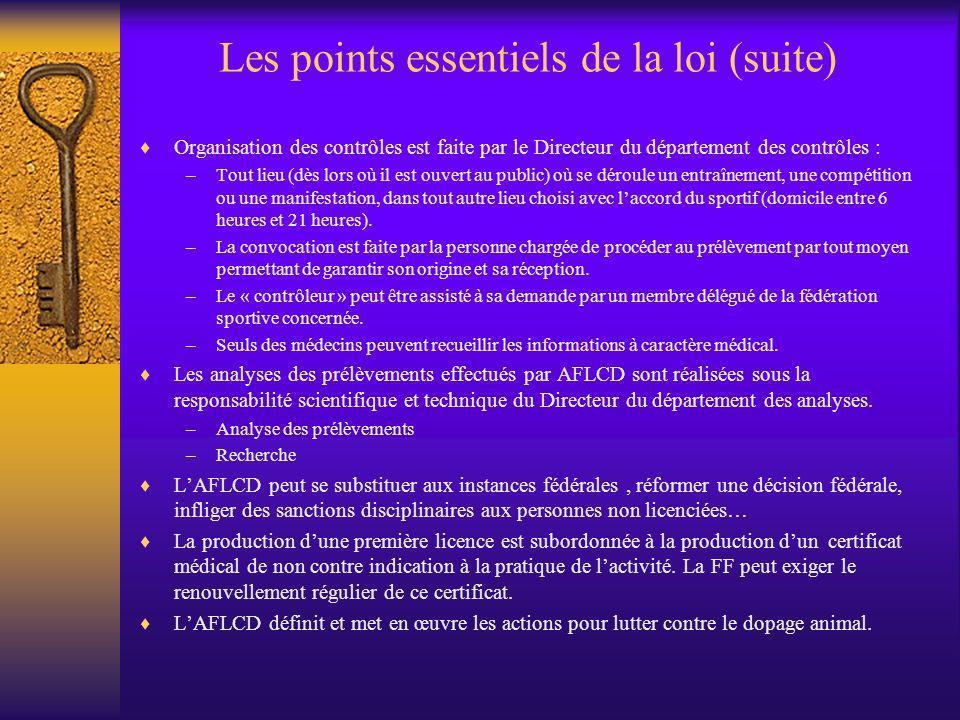 Les points essentiels de la loi (suite)