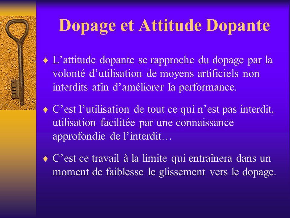 Dopage et Attitude Dopante