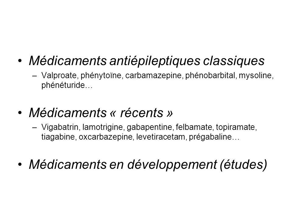 Médicaments antiépileptiques classiques
