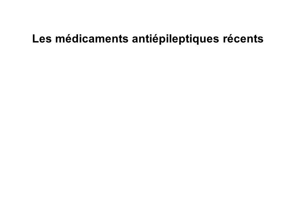 Les médicaments antiépileptiques récents