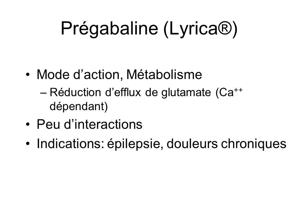 Prégabaline (Lyrica®)