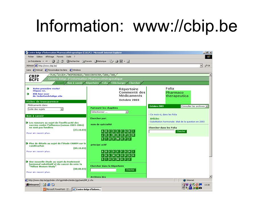 Information: www://cbip.be