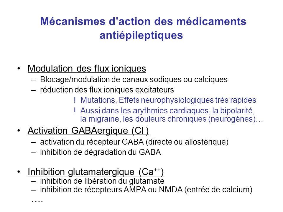 Mécanismes d'action des médicaments antiépileptiques