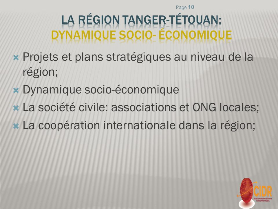 La région Tanger-Tétouan: Dynamique socio- économique