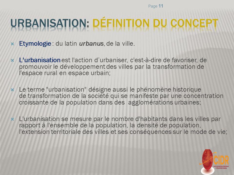 Urbanisation: définition du concept