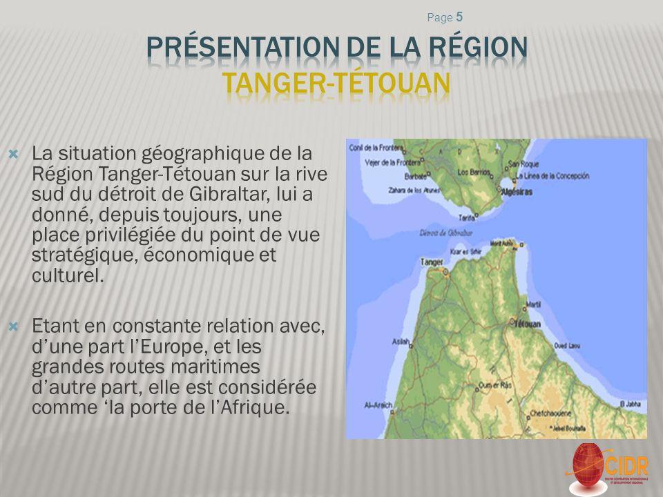 Présentation de la région Tanger-Tétouan