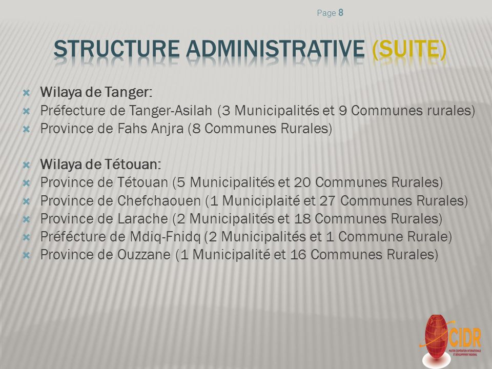 Structure ADMINISTRATIVE (suite)