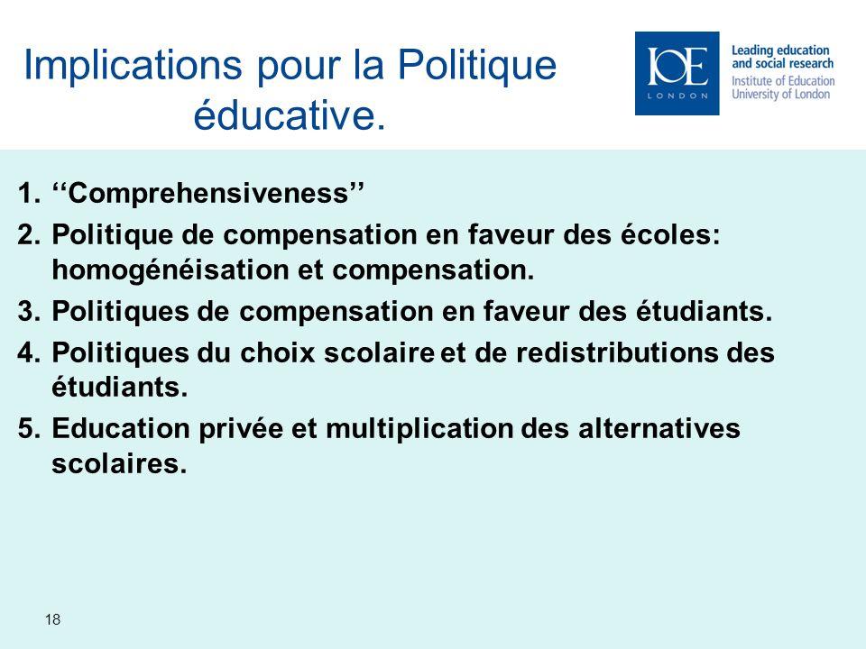 Implications pour la Politique éducative.