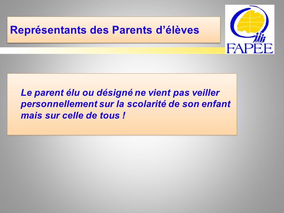 Représentants des Parents d'élèves