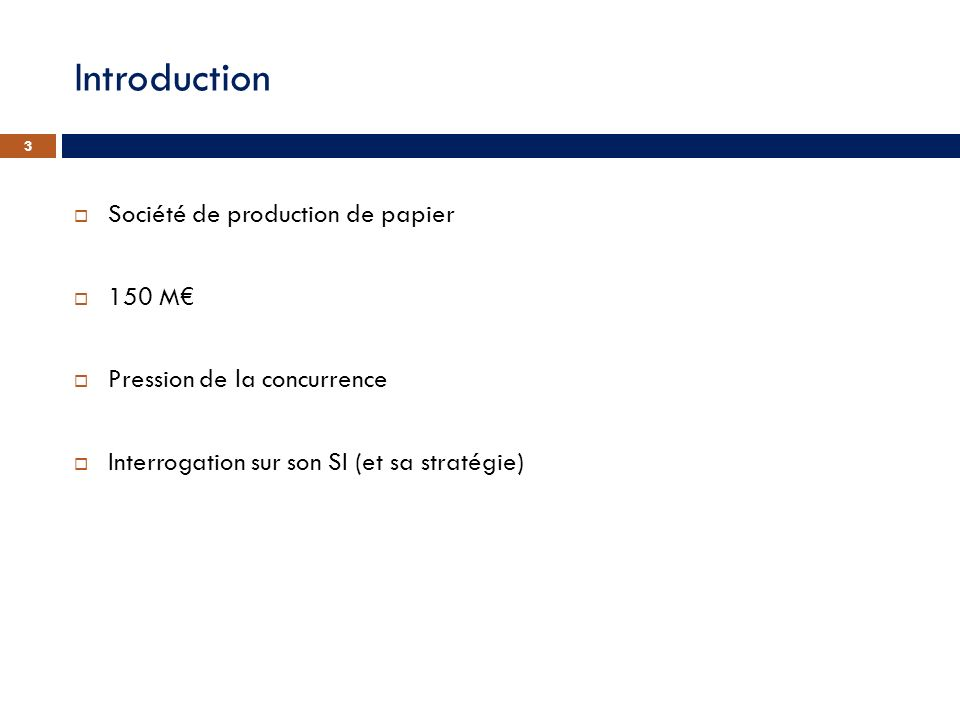 Introduction Société de production de papier 150 M€