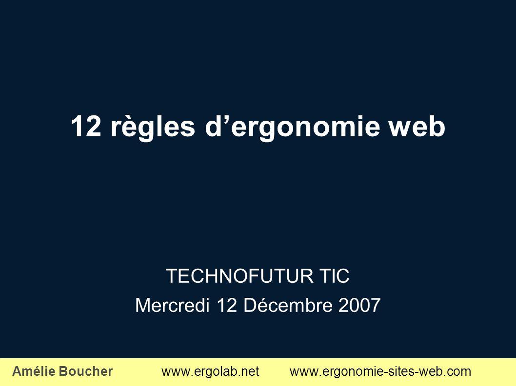 12 règles d'ergonomie web